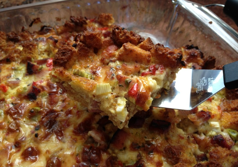 Laurie's Ham, Egg & Pepper Jack Almost Quiche