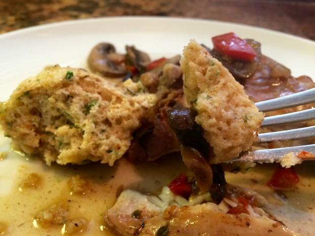 Chicken & Mushroom Stew with Dumplings
