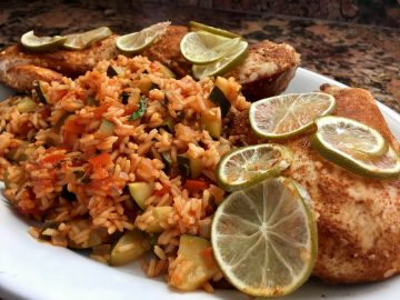Tequila-Lime-Chicken & Spanish rice