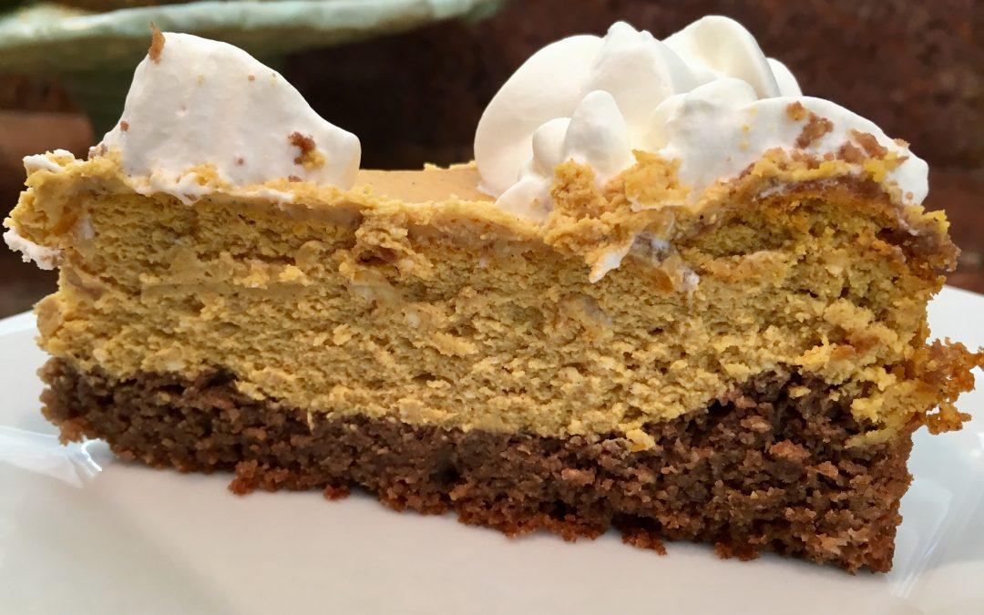 Chocolate Layer-Pumpkin-Spice-Cheesecake