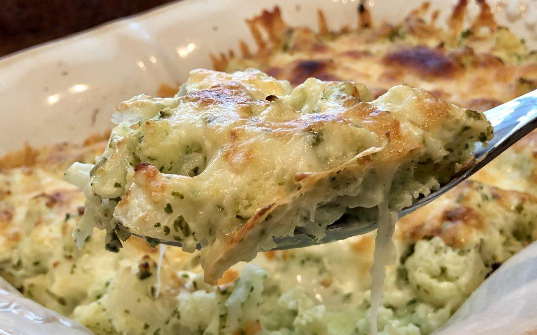 Keto-Pesto-Cauliflower-Casserole