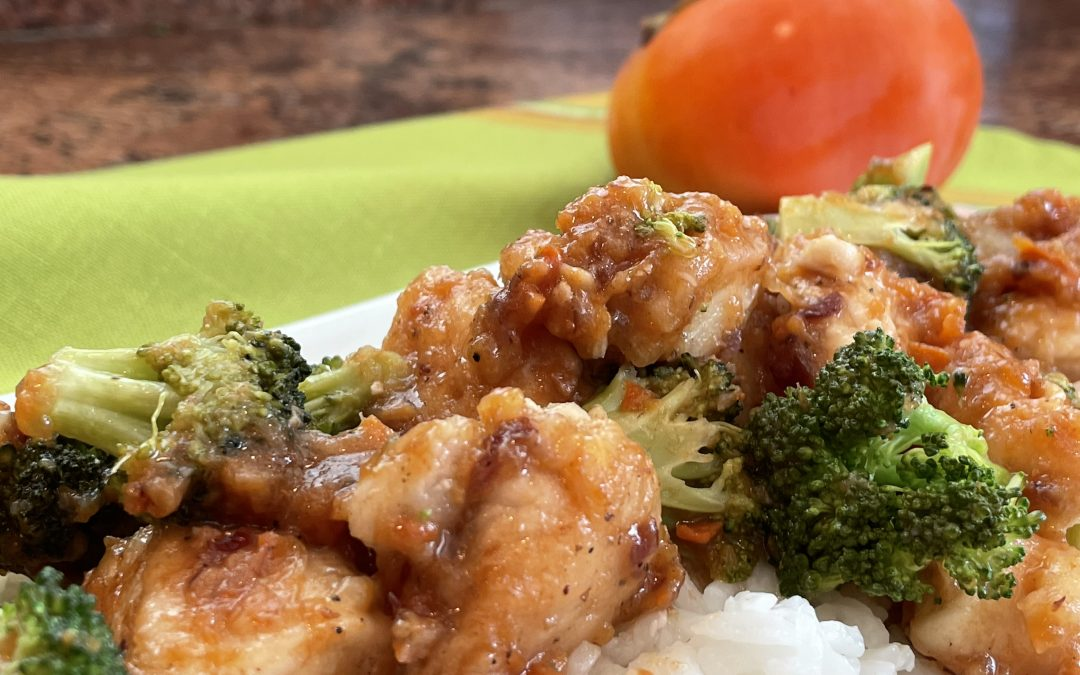 Persimmon-Ginger-Sweet n' Sour Chicken & Broccoli
