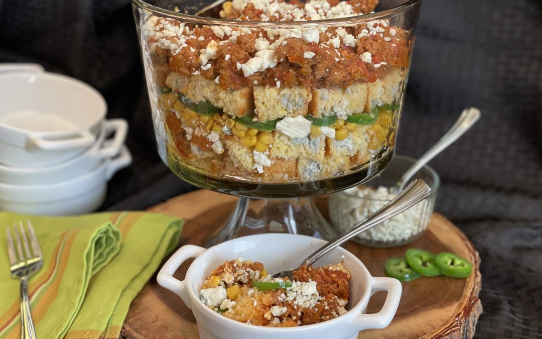 'Super Bowl' Blue Cheese-Duck Chili-Trifle